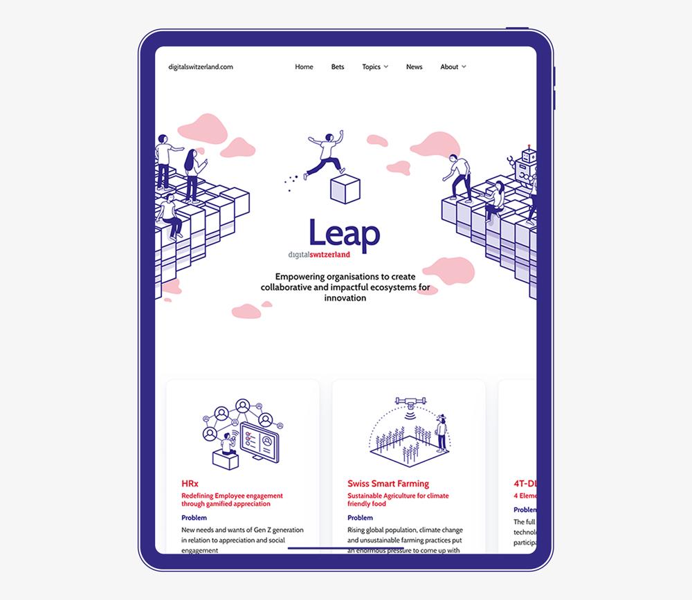 Icon Redesign für die Digitalswitzerland Leap